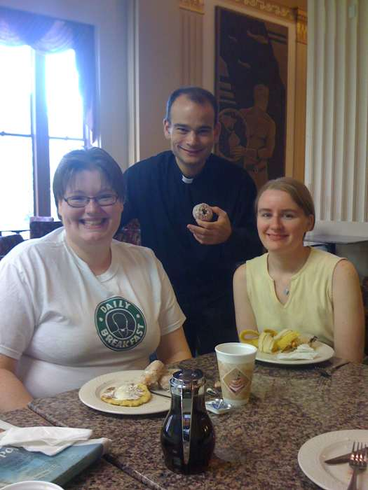 Fr. Roderick, Inge and Steph